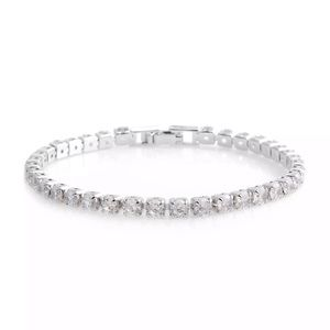 """NEW Silver White Gold Plated Tennis Bracelet 7"""""""